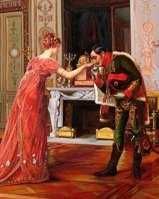 Francois Brunery Italian 19th Century The visit of the fiance.jpg
