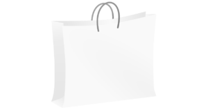 White bag for shopping Bolsa blanca de compras.png